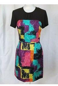 Trina Turk Watercolor Abstract Sheath Dress US 6